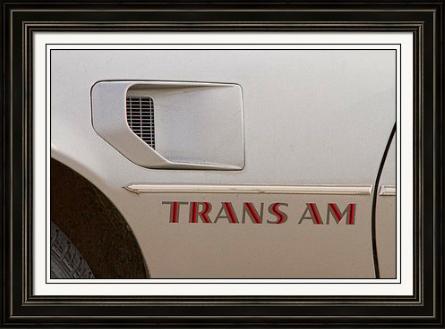 Firebird Trans Am Front Corner Panel Vent Framed fine Art Print