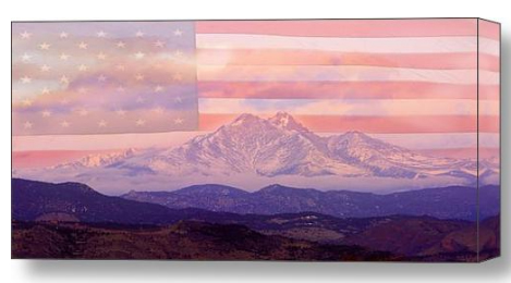 Purple Mountain Majesties Stretched Canvas Print / Canvas Art