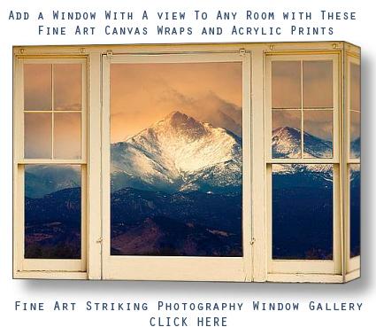 Longs Peak Picture Fine Art Window View Canvas Wrap