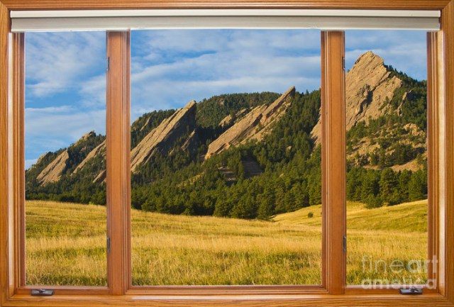 Boulder Colorado Flatirons Window Scenic View Boulder Colorado Flatirons Picture Window Scenic View