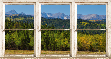 Autumn View Colorado Indian Peaks Window Wt 450 For Immediate Release New Picture Windows Fine Art With a View