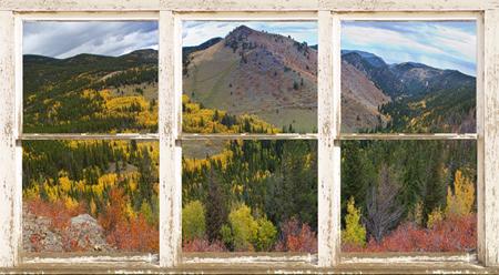 Colorful Colorado Rustic Window View