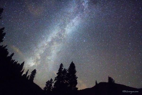 Mountain Milky Way Stary Night View