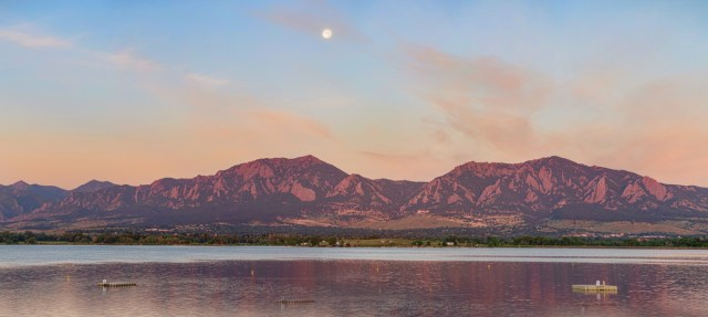 Blue Moon Front Range Boulder Sunrise Panorama Wall Art