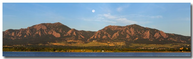 Full Moon Boulder Colorado Front Range Panorama Wall Art