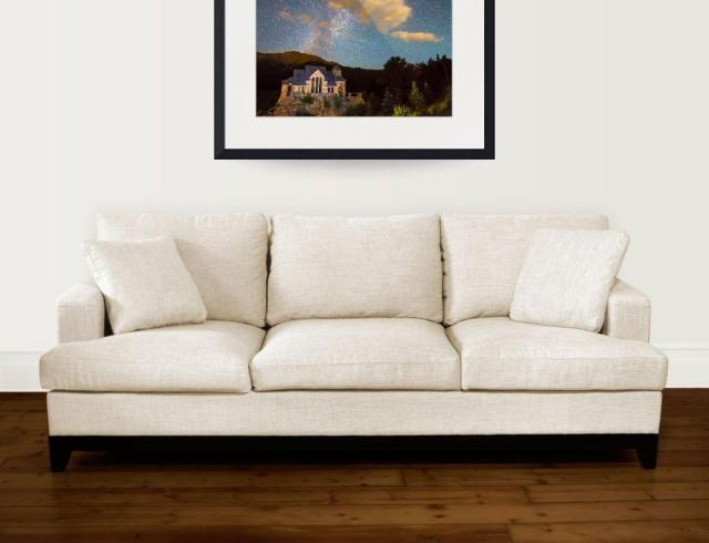 Perseid-Meteor-Shower-and-Chapel-On-The-Rock_wall art