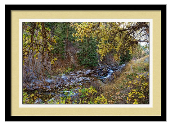 Boulder Creek Autumn View Framed Print