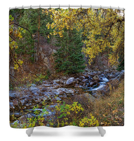 Boulder Creek Autumn View Shower Curtain