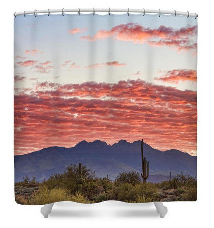 Arizona Four Peaks Mountain Colorful View Shower Curtain