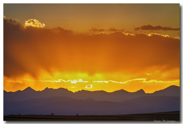 Colorado Rocky Mountains Golden September Sunset Sky