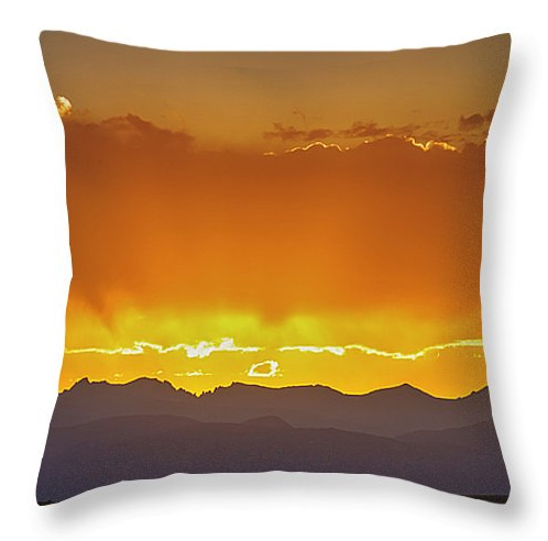 Colorado Rocky Mountains Golden September Sunset Sky Throw Pillo