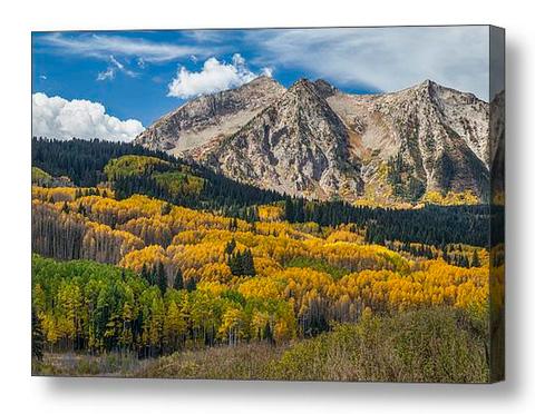 Rocky Mountain Autumn Season Colors Canvas Print