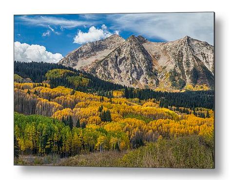 Rocky Mountain Autumn Season Colors Metal Print