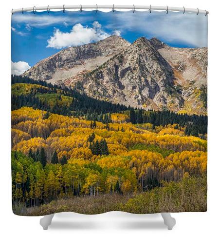 Rocky Mountain Autumn Season Colors Shower Curtain