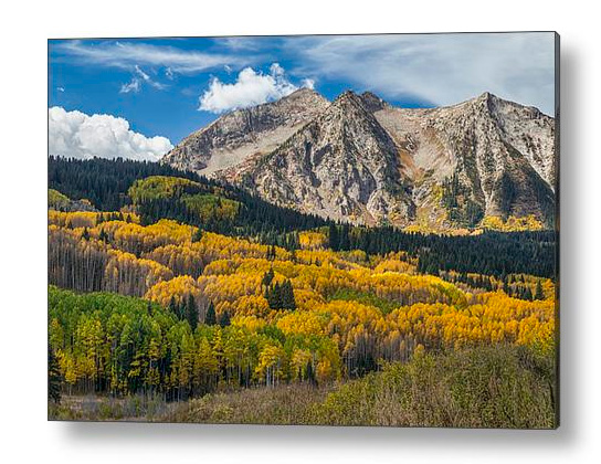 Rocky Mountain Autumn Season Colors Acrylic Print