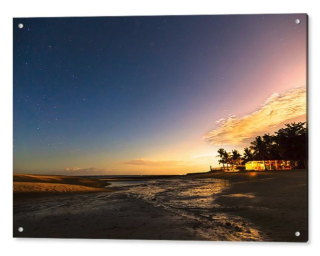 Bantayan Low Tide Nighttime View Acrylic Print