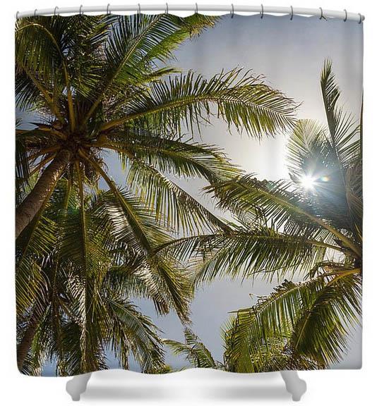 Tropical Sunshine Shower Curtains