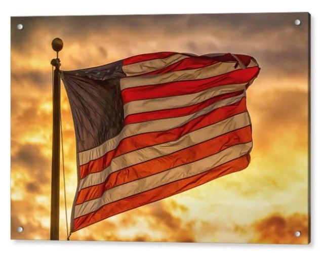 American Sunset On Fire Acrylic Print