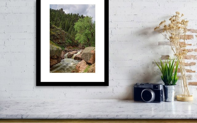 Getting Lost In A Canyon Creek Framed Print