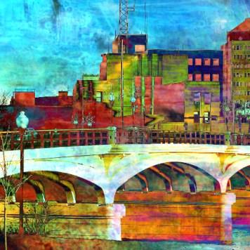 Art Print Hamilton Ohio Bridge