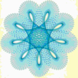 Spirograph Layer Art Blue Sprite