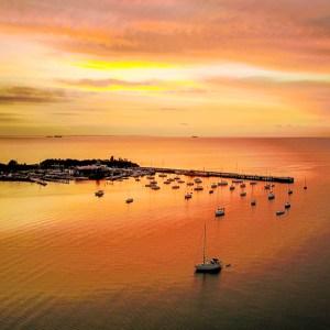 Mornington Sunset - Aerial Artwork