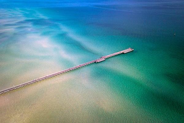 Rosebud Pier - Aerial Artwork
