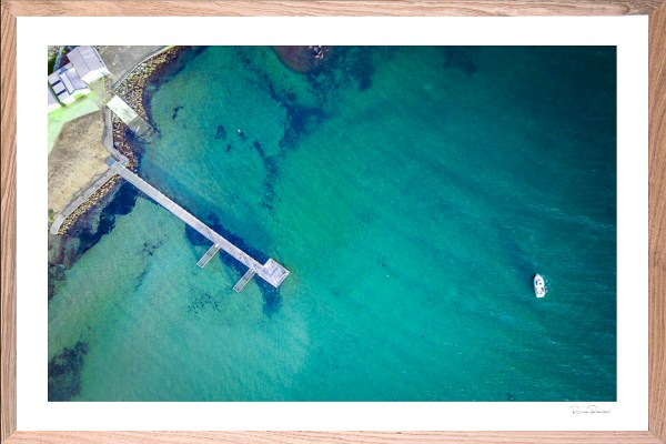 Seaside Serenity - Aerial Artwork