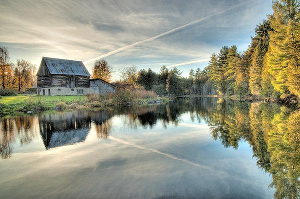 Barn on Mill Pond along Waba Creek