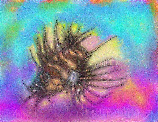 Hawaiian Turkey Fish Digital Art - Hawaiian Turkey Fish Fine Art Print