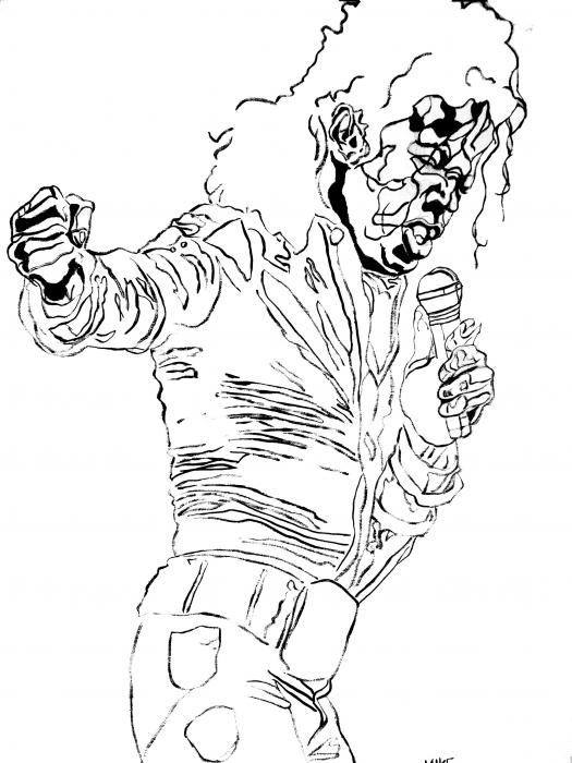 Michel Jackson Free Coloring Pages