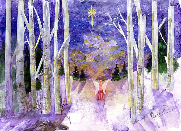 O Holy Night Christmas Cards Watercolor
