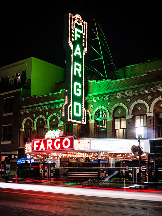 Fargo Nd Theatre At Night Picture Photograph by Paul Velgos