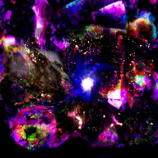 Psychedelic Rainbow Nebula Galaxy Universe Digital Art by