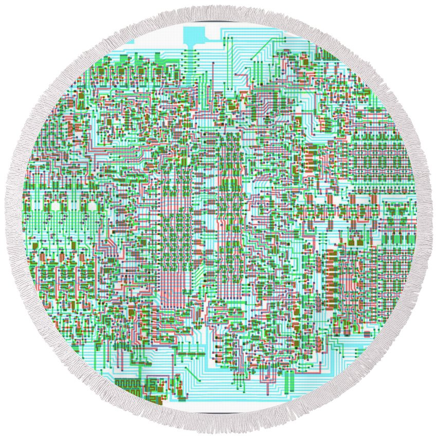Intel 4004 Cpu Silicon Wafer Composite Integrated Circuit ...