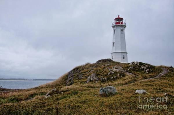 Louisburg Nova Scotia Art Print featuring the photograph Louisburg Nova Scotia Lighthouse by Tatiana Travelways