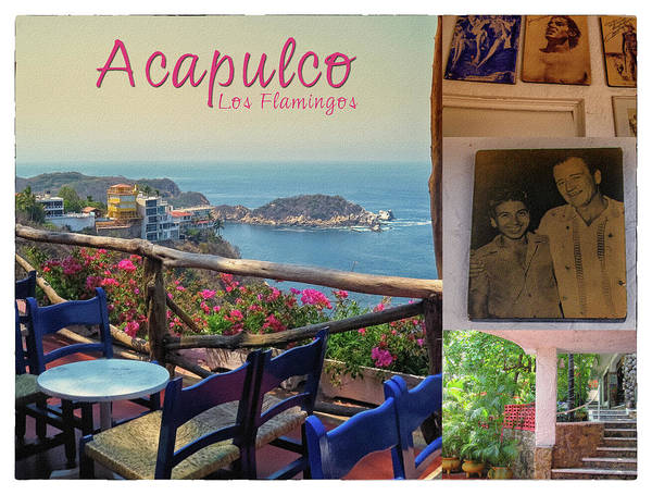 Acapulco Art Print featuring the photograph Acapulco Los Flamingos Vintage Poster by Tatiana Travelways