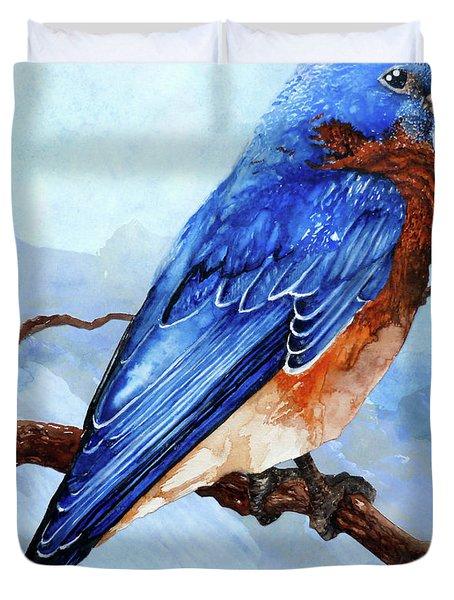 Blue Bird Painting By Curtiss Shaffer