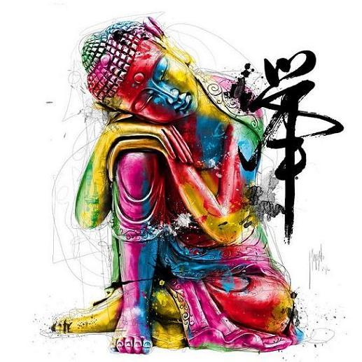 acrylic-painting-budha