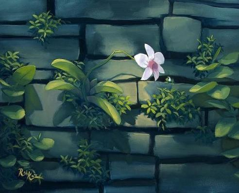 orchid-on-canvas