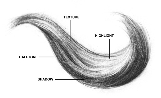pencil-drawing-hair