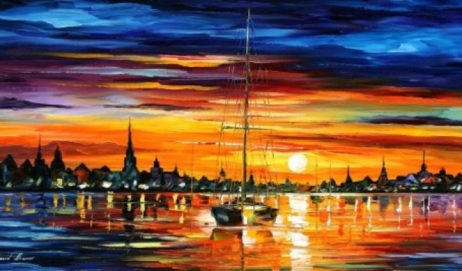 afremov-sunset-paintings