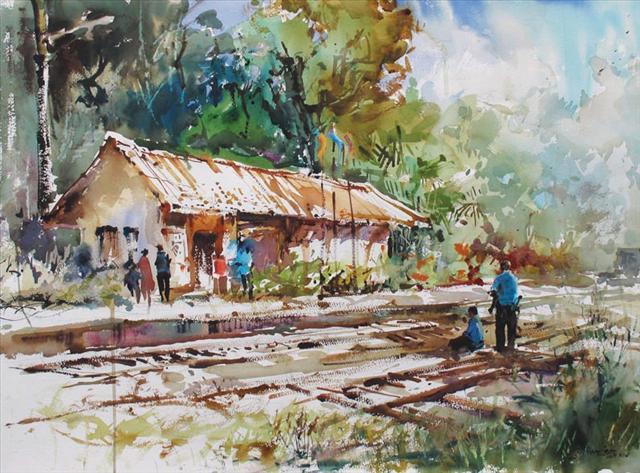 village-house-paintings