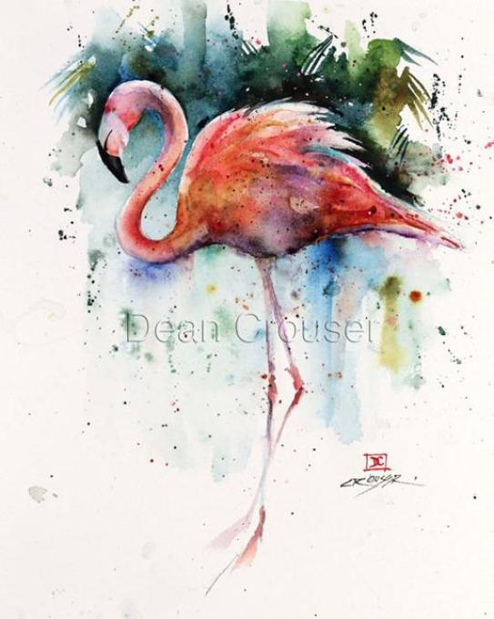 paintings-of-flamingo