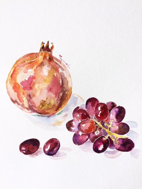 Гранат и виноград — Fine Art Home