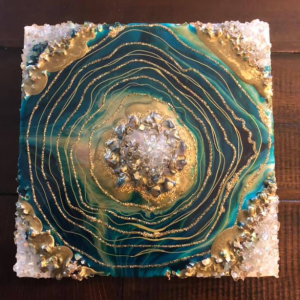 Green and Gold mini geode