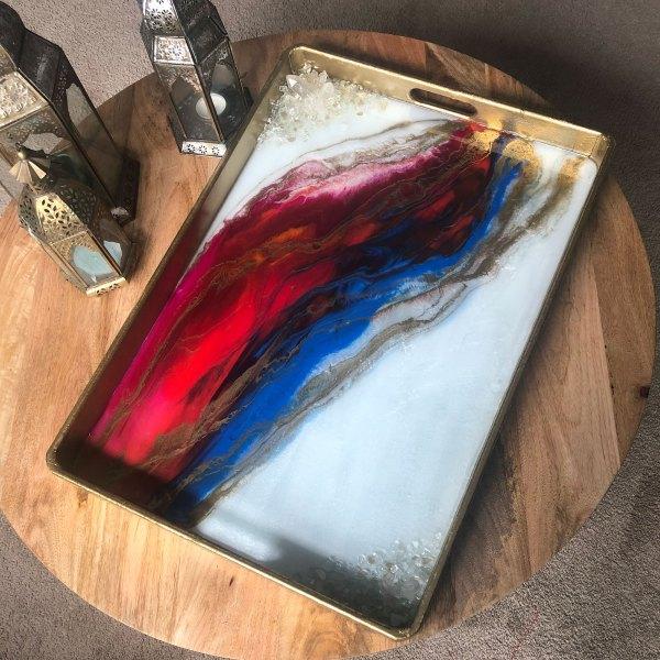 quartz dreamer serving tray