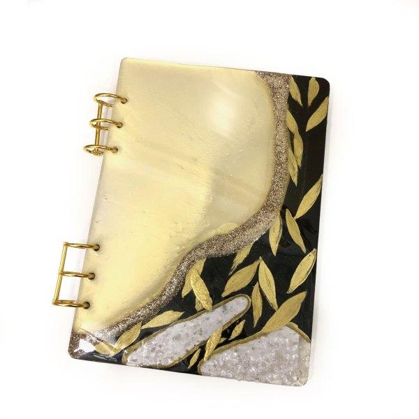 Clear Quartz Leaf Journal
