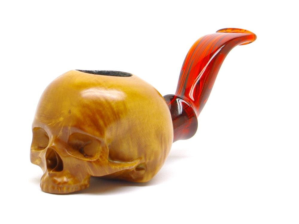 M-018b-hn Half Human Skull Nosewarmer