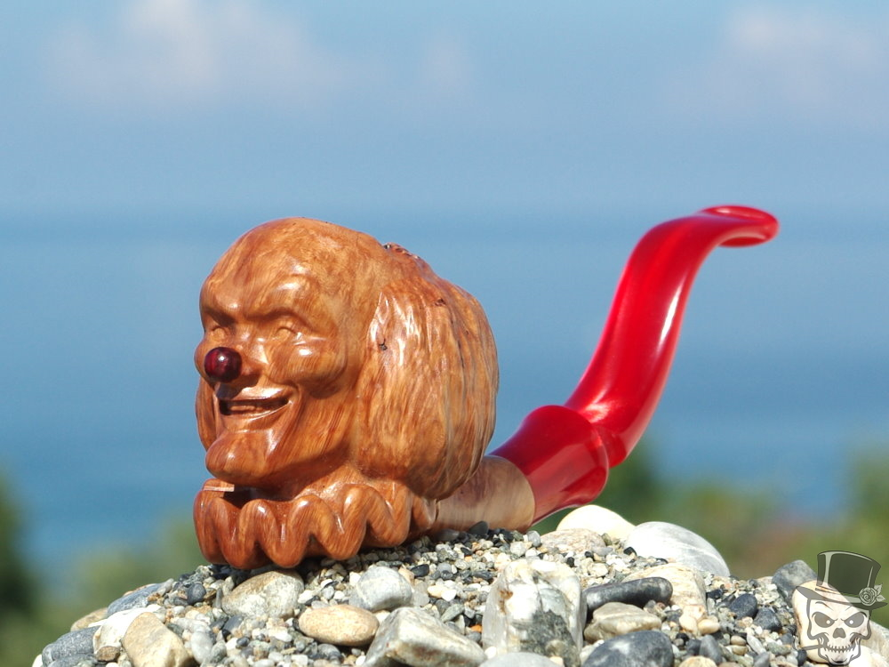 M-067c-briar Circus Clown Pipe
